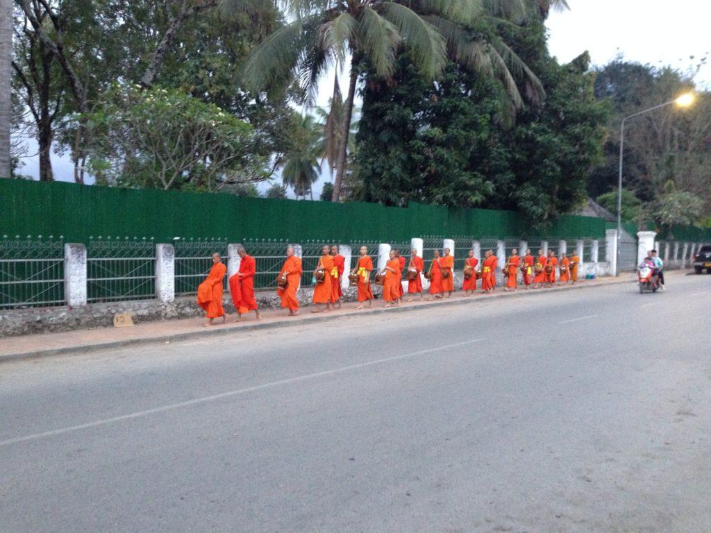 Almsgiving in Laos
