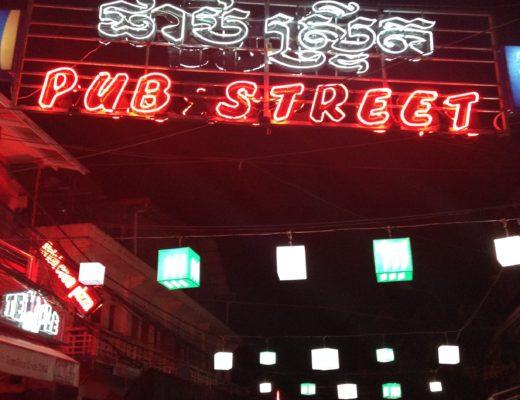 Pub Street in Siem Reap, Cambodia