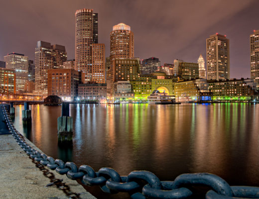 Skyline photo of Boston