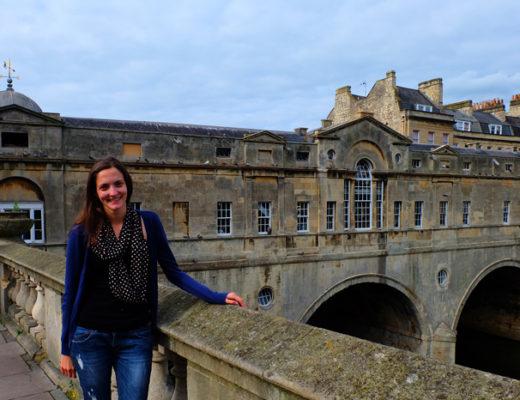Lauren standing on a bridge in Bath, England