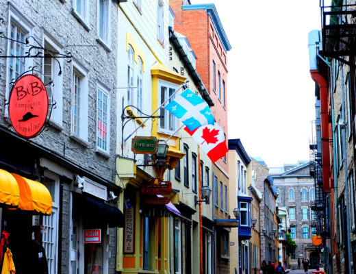 A photo of the streets in Old Quebec City