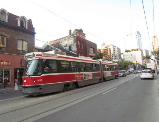 Toronto TTC streetcar on street