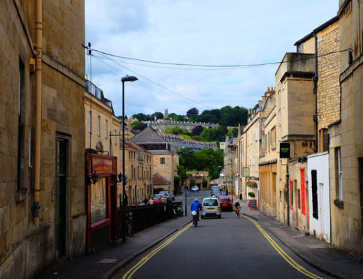 Streets of Bath, England in the UK