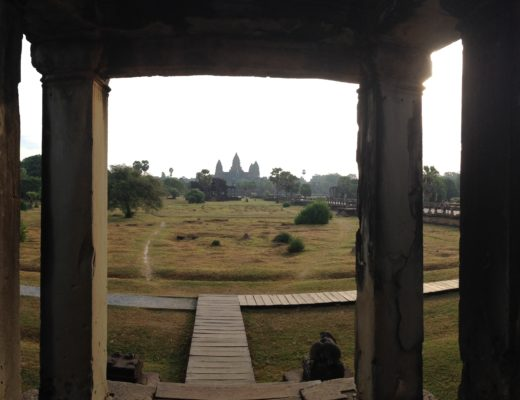 Panarama view of Angkor Wat temples in Cambodia