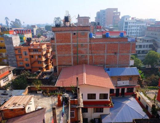 Backyard Hotel in Kathmandu, Nepal view from hotel room