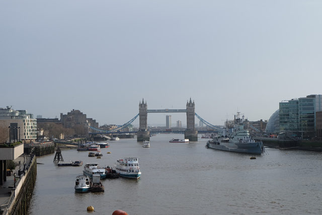 Tower Bridge seen from London Bridge