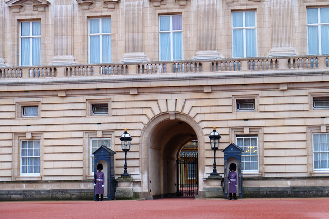 The guards at Buckingham Palace