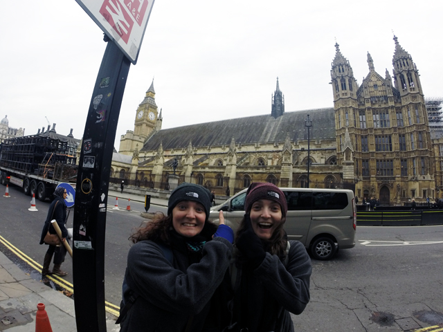 Outside the Palace of Westminster
