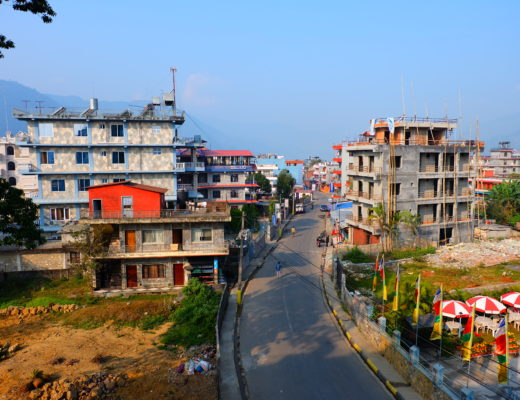 Streets of Pokhara in Nepal