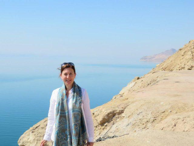 Claire Morris at Dead Sea Jordan