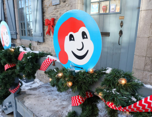 Decorations in old city Quebec for the Winter Carnaval in Quebec City