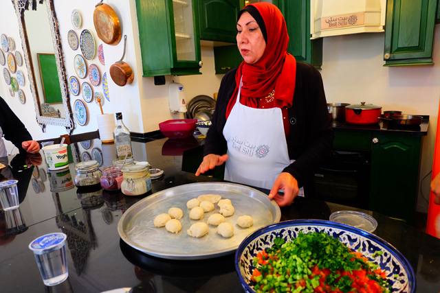 Cooking lesson at Beit Sitti in Jordan
