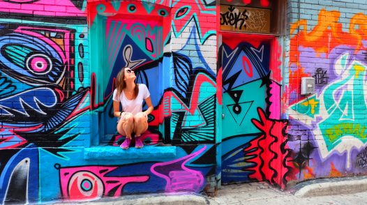 Exploring Graffiti Alley in Toronto