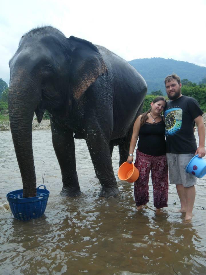 luke and i with elephants
