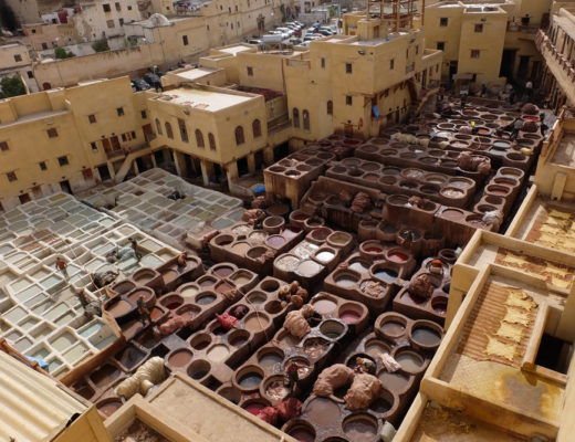Leather tanneries in Fes on a Morocco vacation
