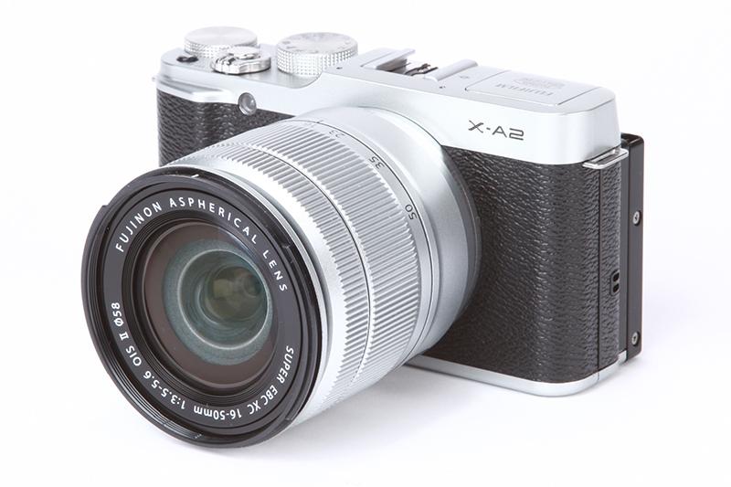 Best mirrorless for travel, the Fuji xA2 camera.