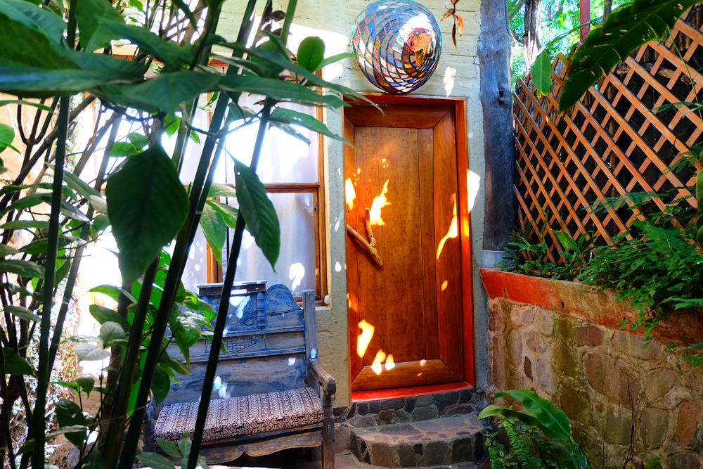 The door to our room at Lush in Lake Atitlan, Guatemala