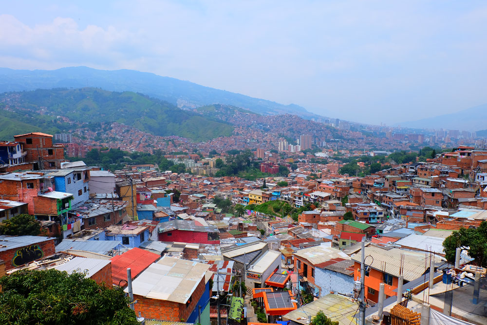 Landscape of Medellin, Colombia, a must-visit city while planning a trip to Colombia.