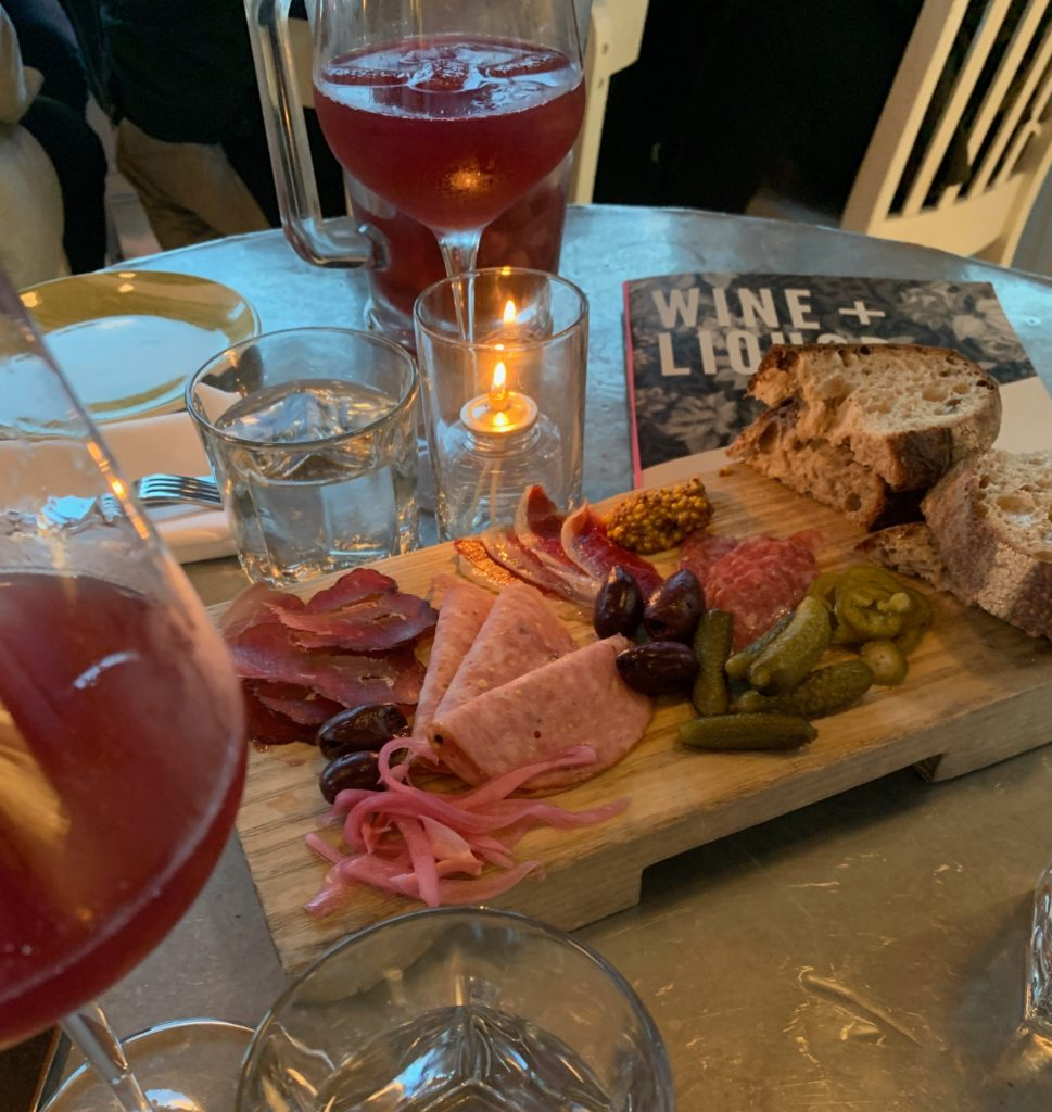 A delicious charcuterie board spread at the Drake in Prince Edward County.