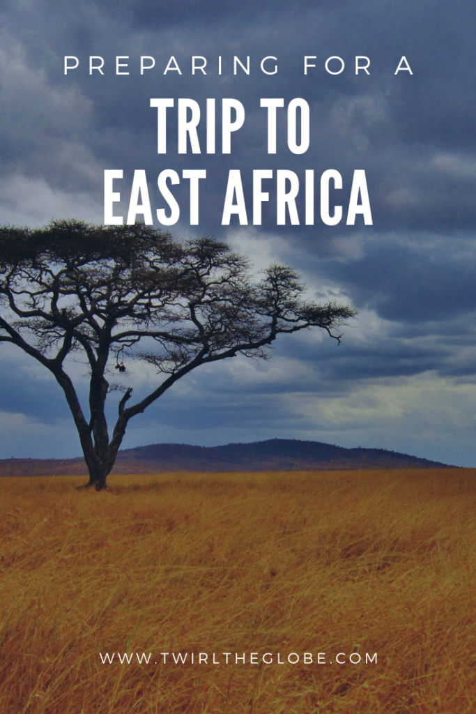 A pin illustrating how to prepare for an East Africa trip.
