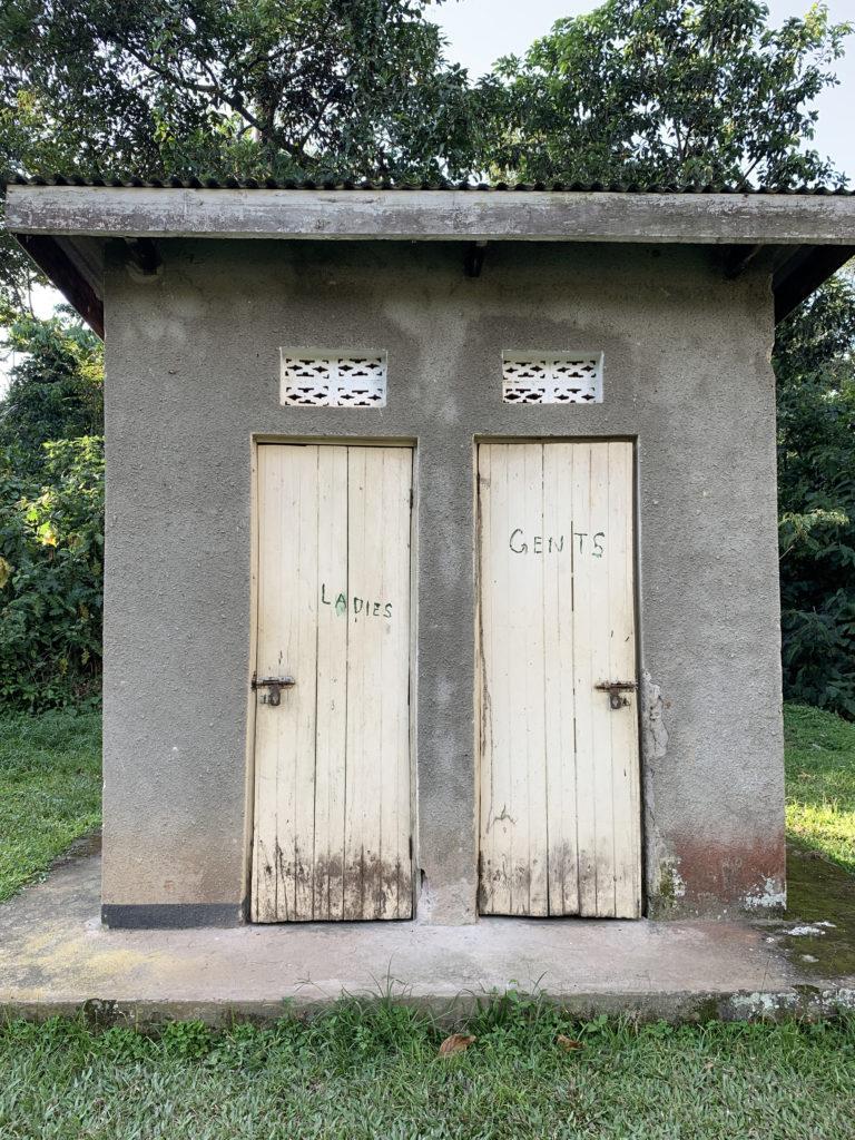 A rustic bathroom at a campsite in Uganda, East Africa