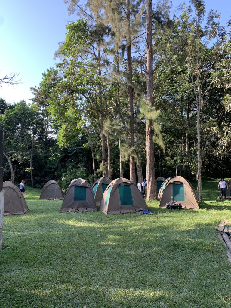A bunch of tents at a campground in East Africa