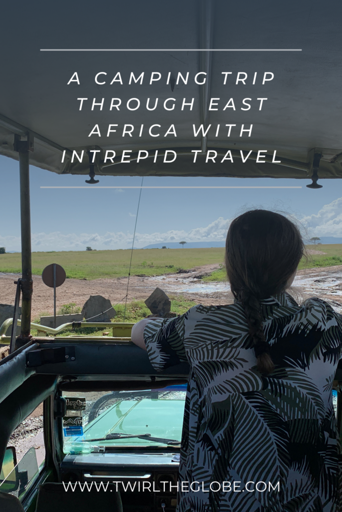 A pin for my East Africa travel with Intrepid.