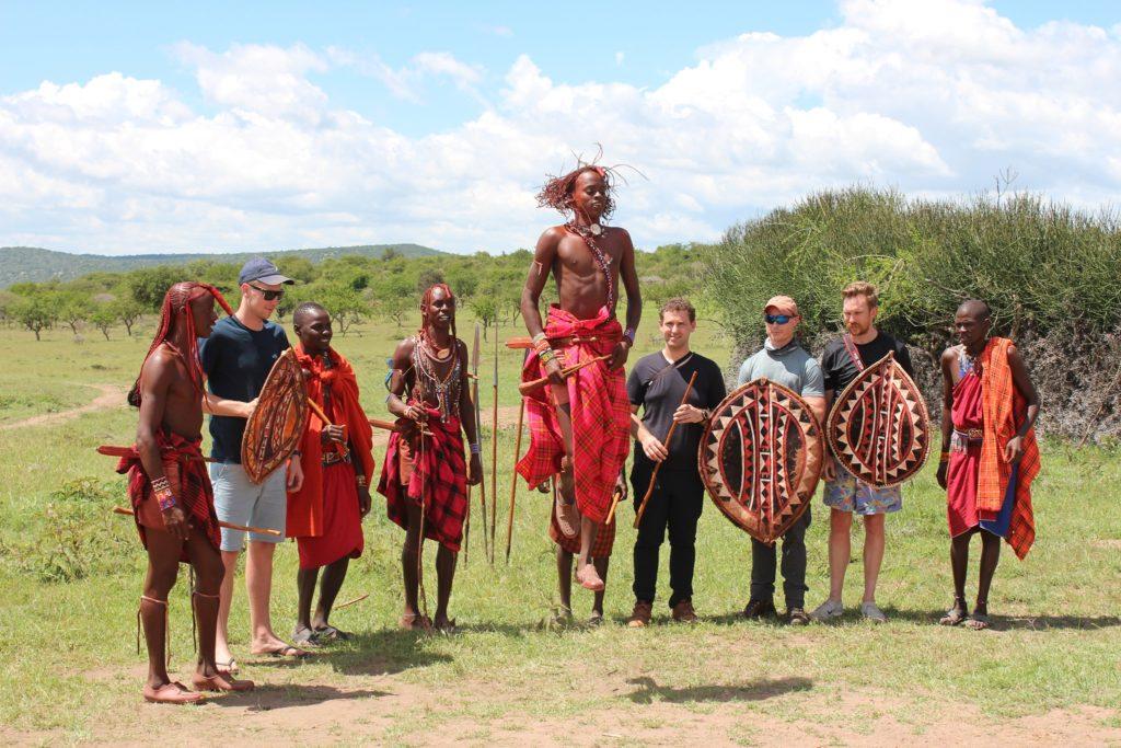 The traditional jumping ceremony I saw on my Maasai Mara safari.