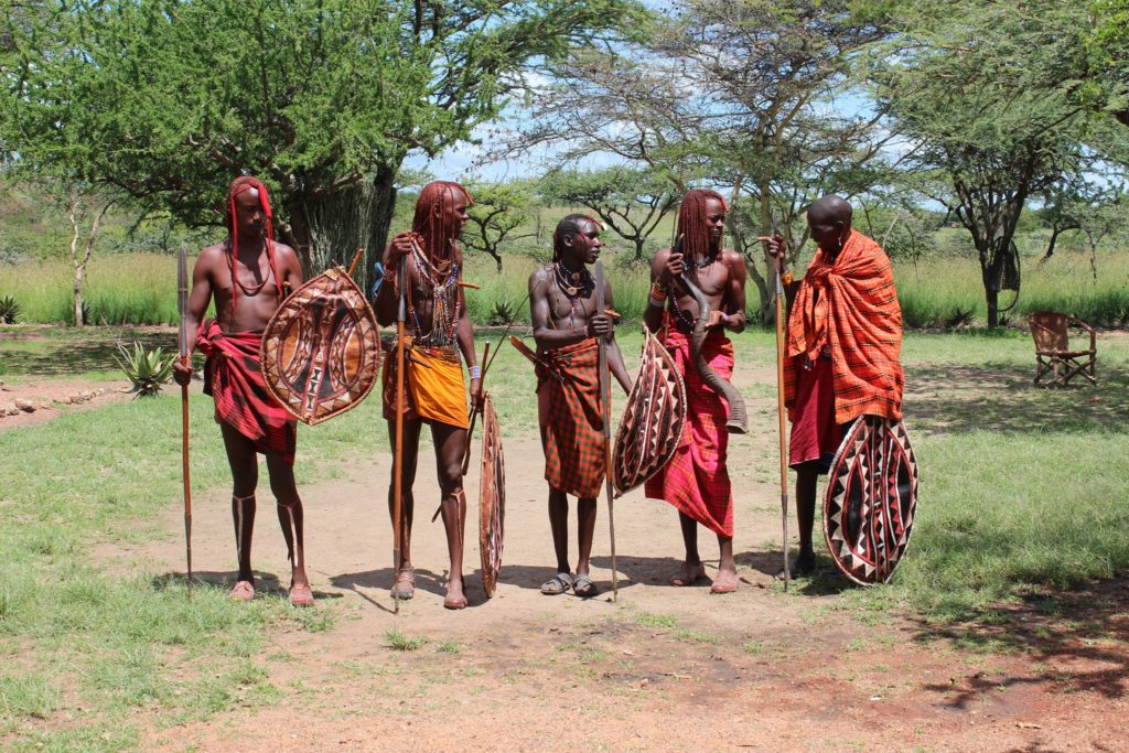 Maasai Mara warriors that I met on my Maasai Mara safari in Kenya