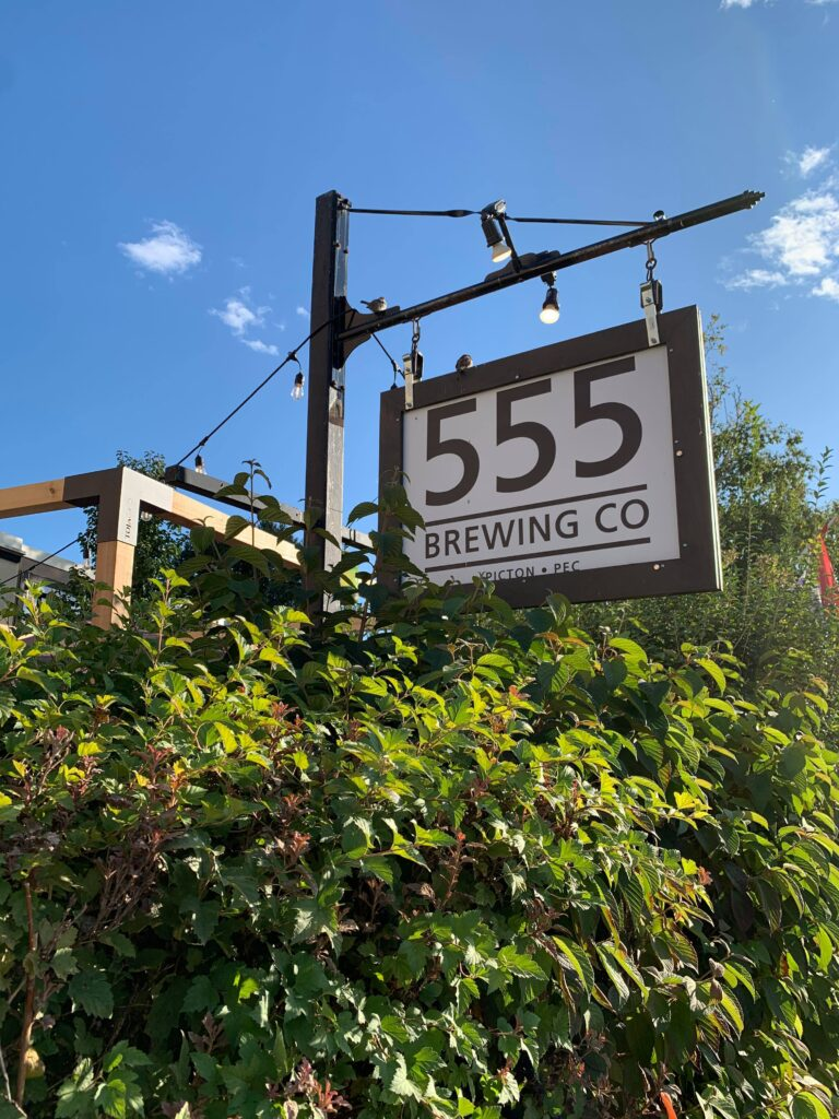 555 Brewing Co. located in Prince Edward County, Ontario