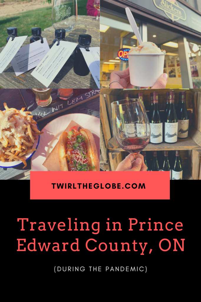 A pin for a guide on going on a Prince Edward County vacation.