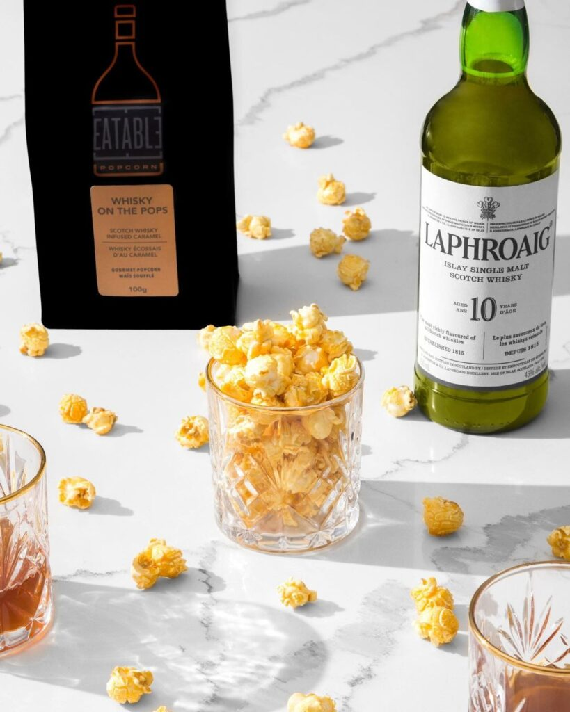 Shop local with Eatable, a GTA based company that sells alcohol infused popcorn.
