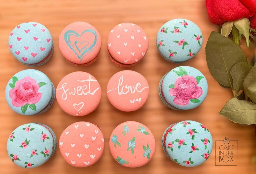 Shop local for Valentine's Day by buying these beautiful hand painted macarons in Toronto.