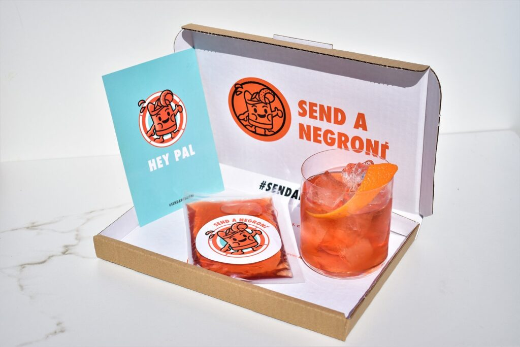 Shop local in Toronto for Valentine's Day with this Send a Negroni kit.