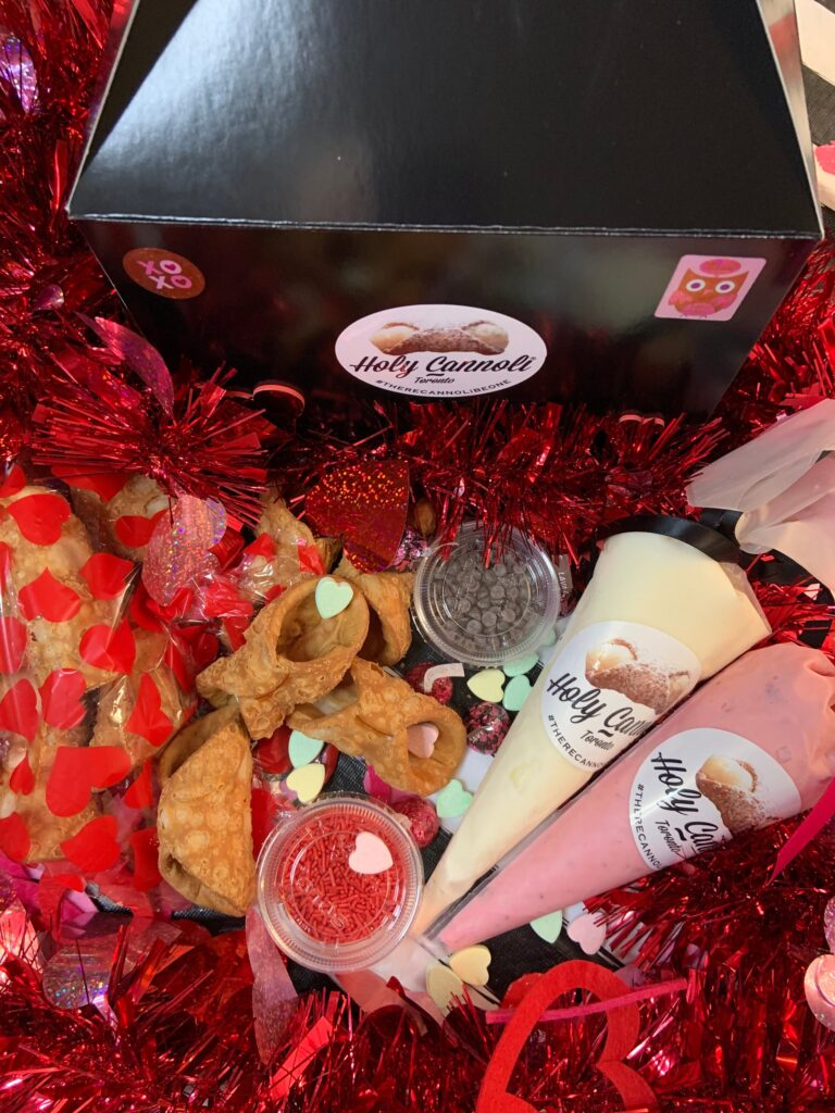 A fill your own cannoli box perfect for Valentine's Day in Toronto.