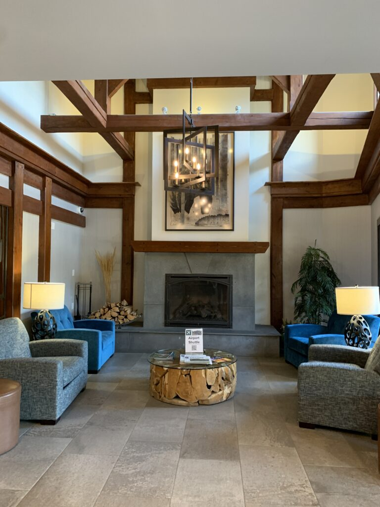 Lobby at High Country Inn, Banff