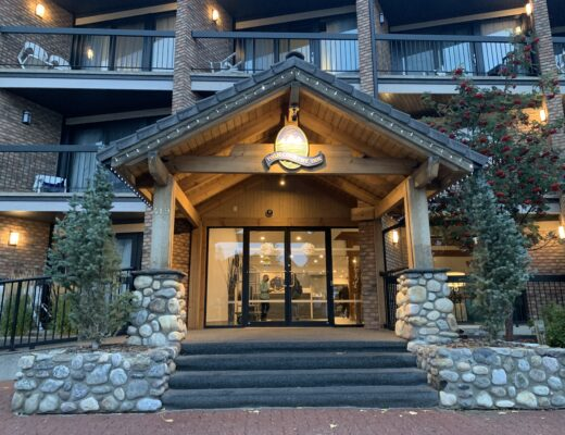 Banff Hotel Review - Front entrance of High Country Inn